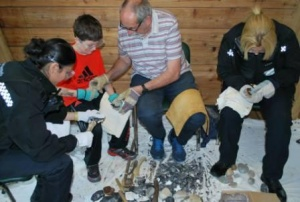 Open day flintknapping 2015
